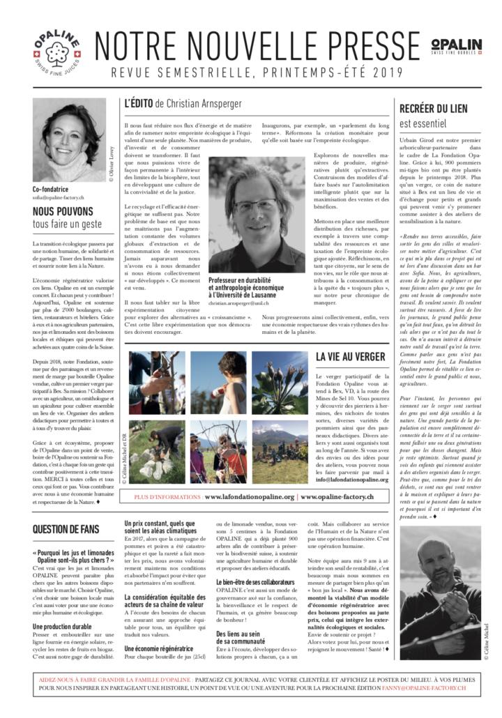 Notre Nouvelle Presse, printemps-été 2019